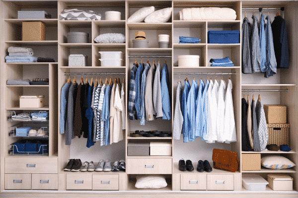 Convert a small bedroom into a walk-in closet
