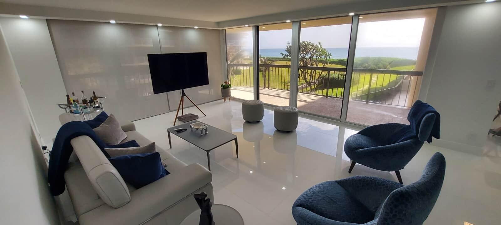 Custom Designed Family Room In Palm Beach County FL