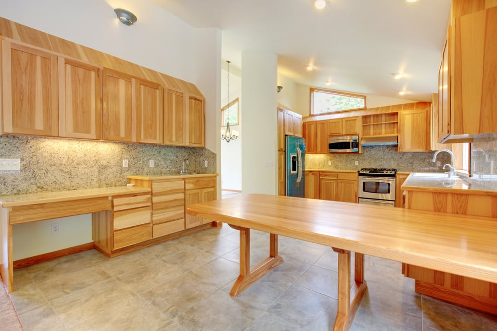 Birch tree custom build kitchen with large table