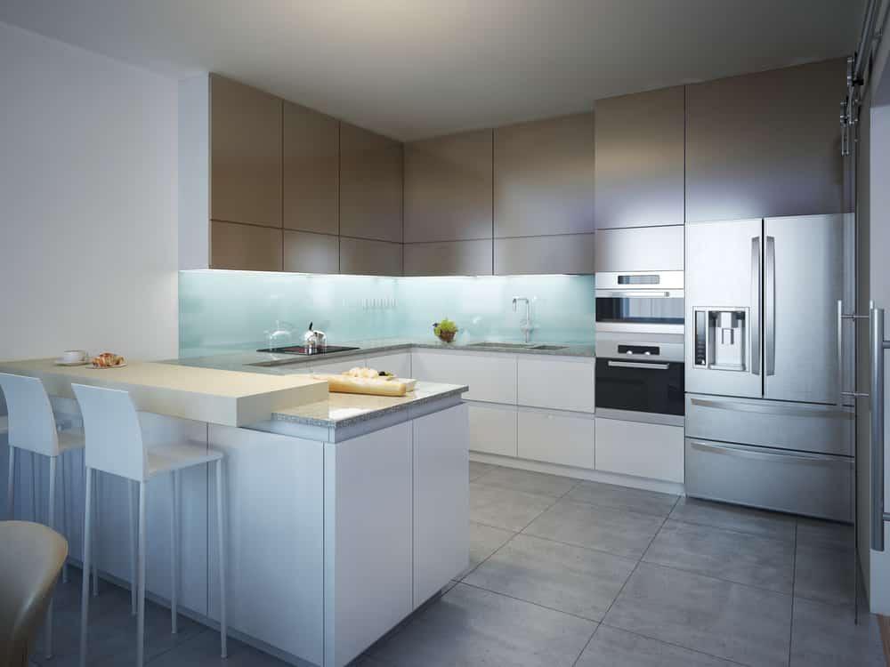 granite tile In Kitchen